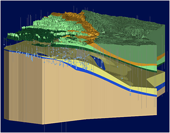 3D model used for groundwater consulting services in Texas